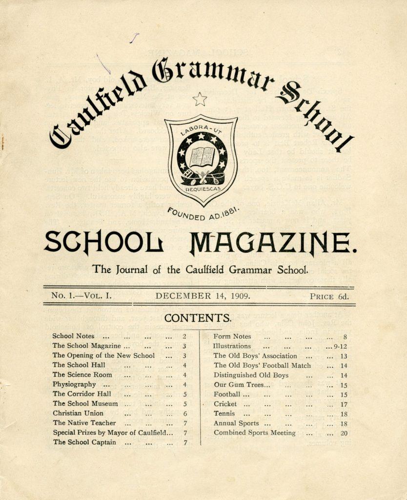 School Magazine 1909