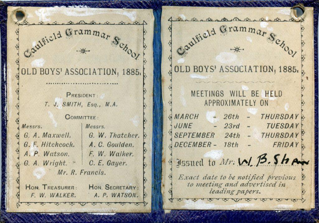 Caulfield Grammarians Association Formed