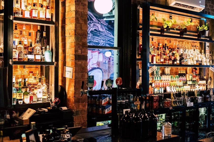 Inside the bar at Rascal Brunswick