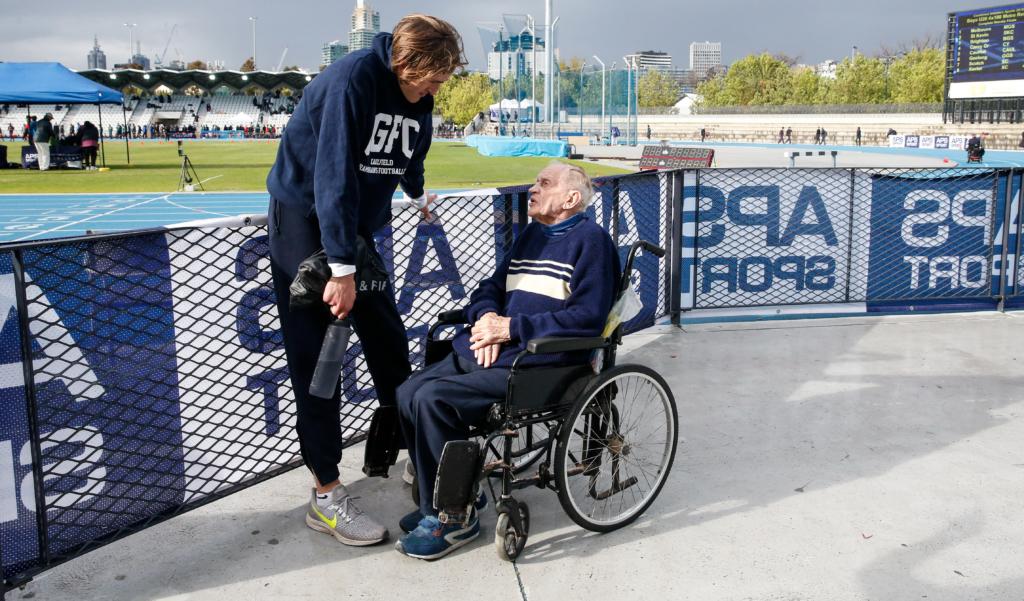 CGS Athletics - Roman Anastasios with Neville Sillitoe