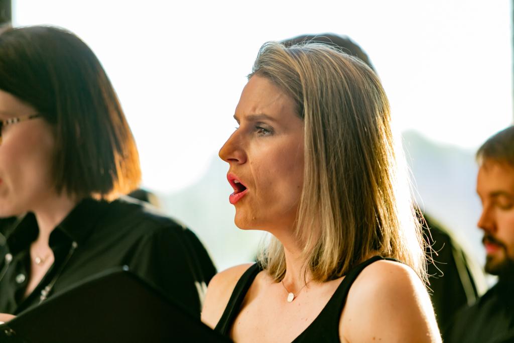 Barbara Iakovidis singing in CGA choir